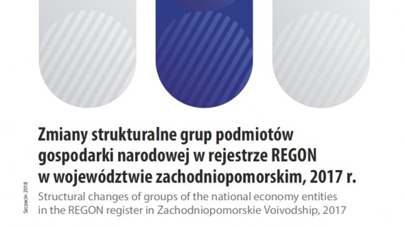 Structural changes of the national economy entities groups in the REGON register in Zachodniopomorskie Voivodship, 2017